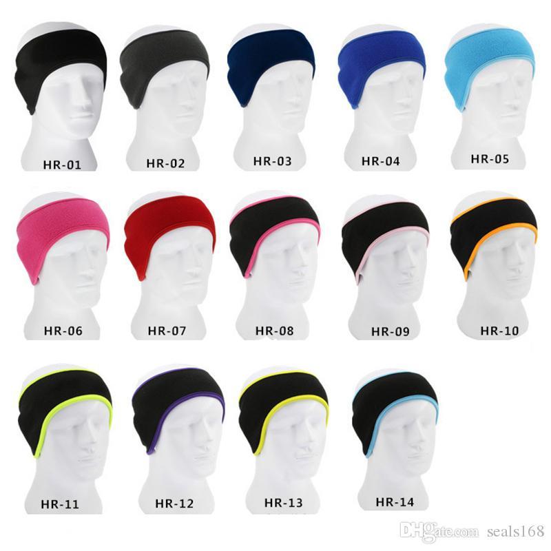 14 Farben Ohr-Wärmer-Abdeckung Stirnband Wintersport Headwrap Fleece Ohrenschützer für Männer Frauen Sport Hedband Weihnachten warmen HH9-2587