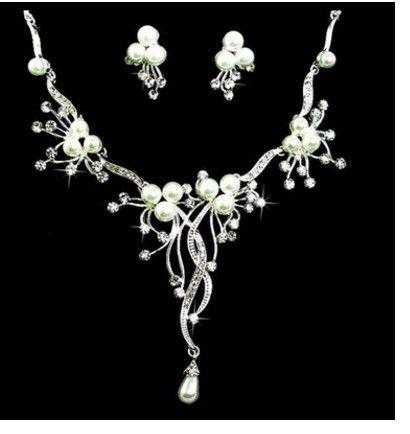 conjunto de brincos colar de up-market pearlbride diamante jóias de casamento da senhora 14.5yh