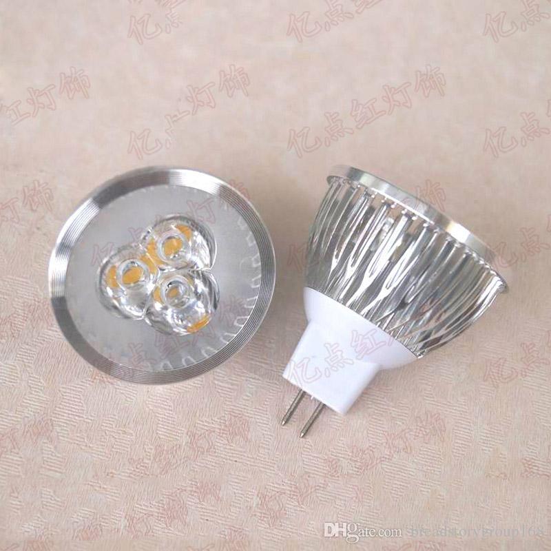 Low Voltage Cup Lamp Spotlight High Power LED 3W 12V Spotlight luzes de teto de alumínio Lamp Cup MR16 12V 3W