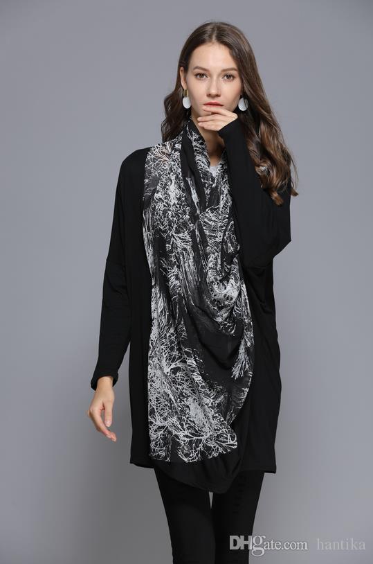 Acquista Cappotto Da Donna Cardigan In Stile Cinese Con Stampa A Inchiostro Design A Manica Lunga Stile Casual Donna Designer Capispalla Primavera Da
