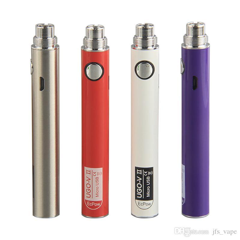 Original UGO VII 2 650 900mAh EVOD ego 510 Battery Micro USB Passthrough Come with USB Cable Vaporizers E Cigs O pen Vape