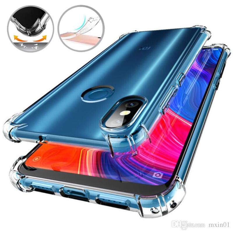 Hava Yastığı Yumuşak TPU Şeffaf Clear Durumda XiaoMi 5X6X6 8 Lite 9 SE Max 3 MIX 2 RedMi 4A 4X 5A Not 5 Pro Artı S2 6 6A 7 7A K20 GITMEK