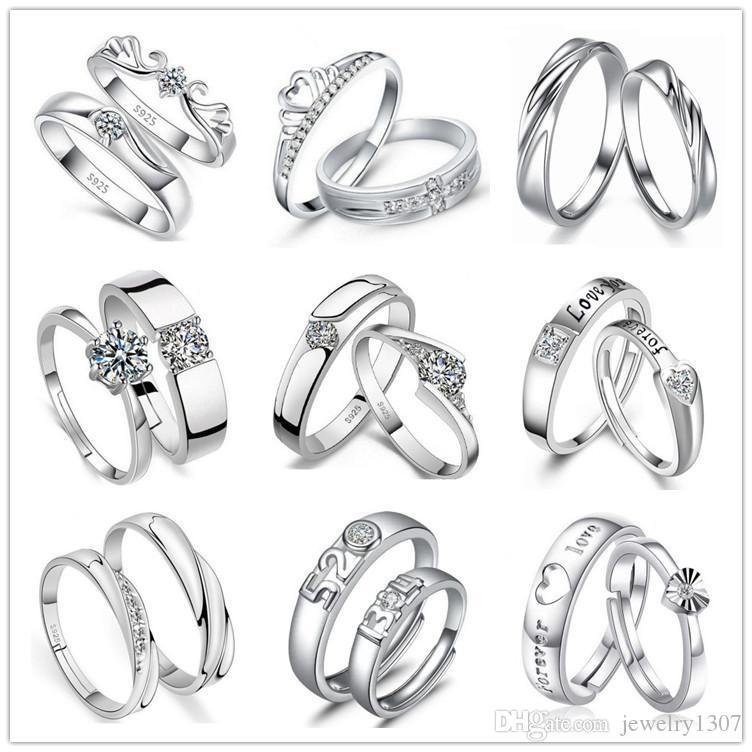 Горячие продажи кольцо мужчины и женщины пара простых личность стерлингового серебра пара кольцо S925 открытия ювелирных изделий на заказ надписи
