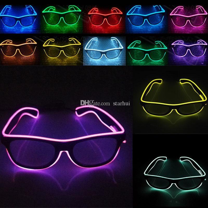 YENİ LED Parti Gözlük Moda EL Tel Doğum Cadılar Bayramı partisi Bar Dekoratif tedarikçisi Aydınlık Gözlük Gözlük WX-G03 gözlük