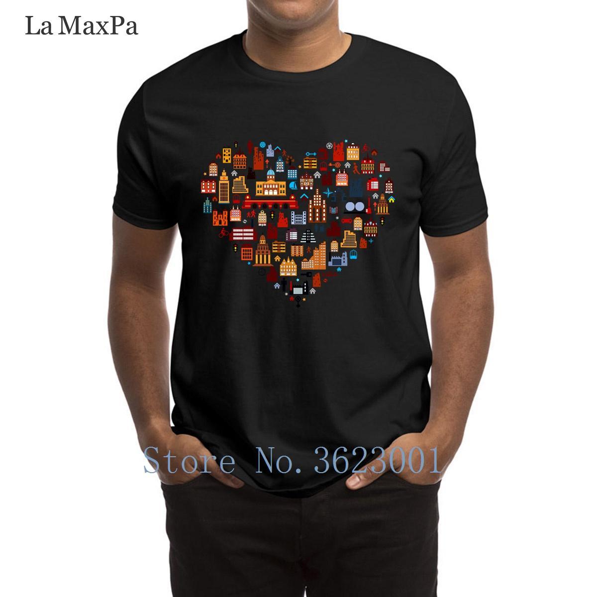 Erkek Üst Kalite İçin Tasarımcı Yenilikçi Erkekler Tişörtlü Birçok Evler Erkek Tişört sloganı Sunlight Tişört Güzel Artı boyutu Tee Gömlek