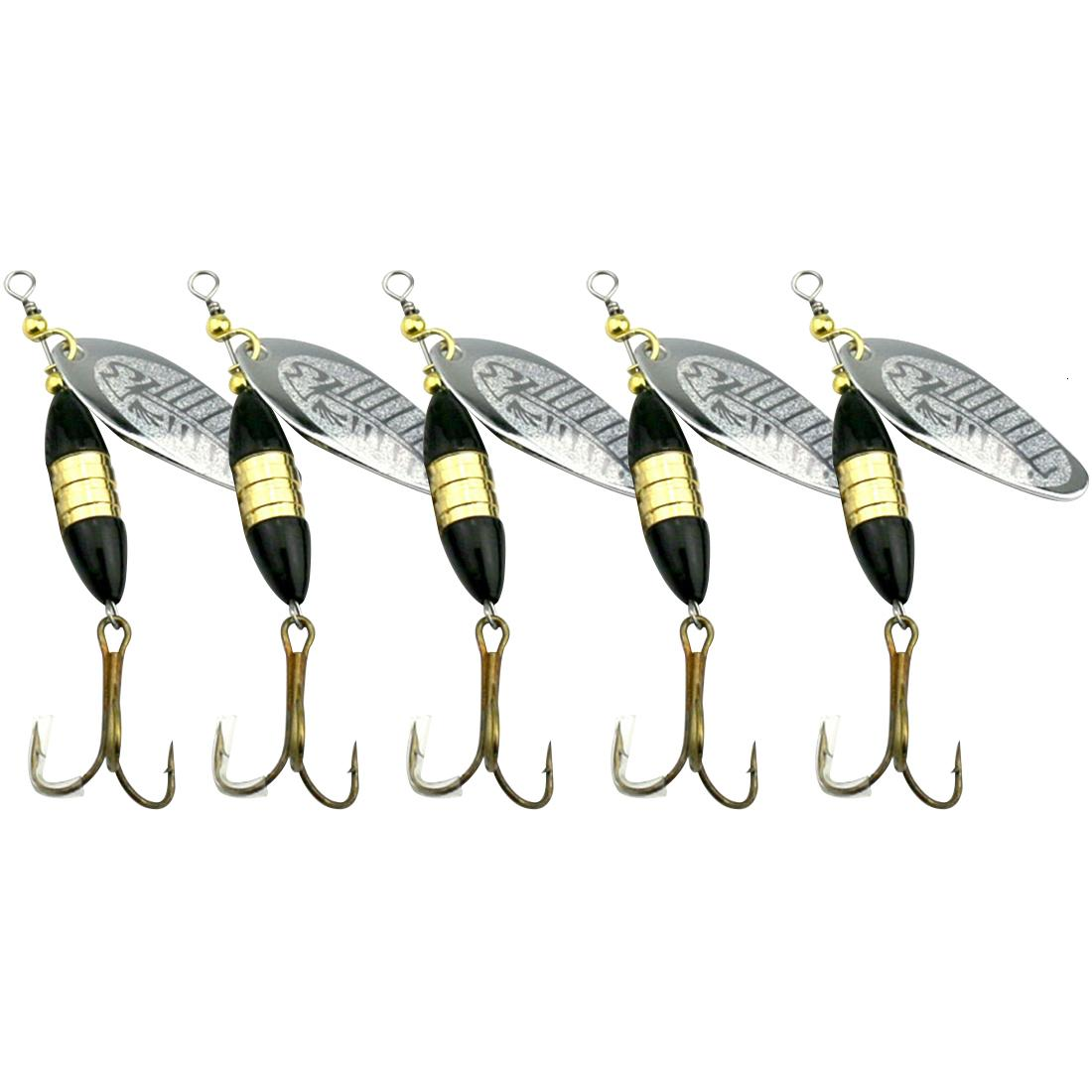 1Pcs 8.5cm 18g Trolling Metal Spinner Fishing Lure Bass Pike Carp Trout Perch Catfish Blade Spoon Sequins Hard Bait Pesca Tackle T191016