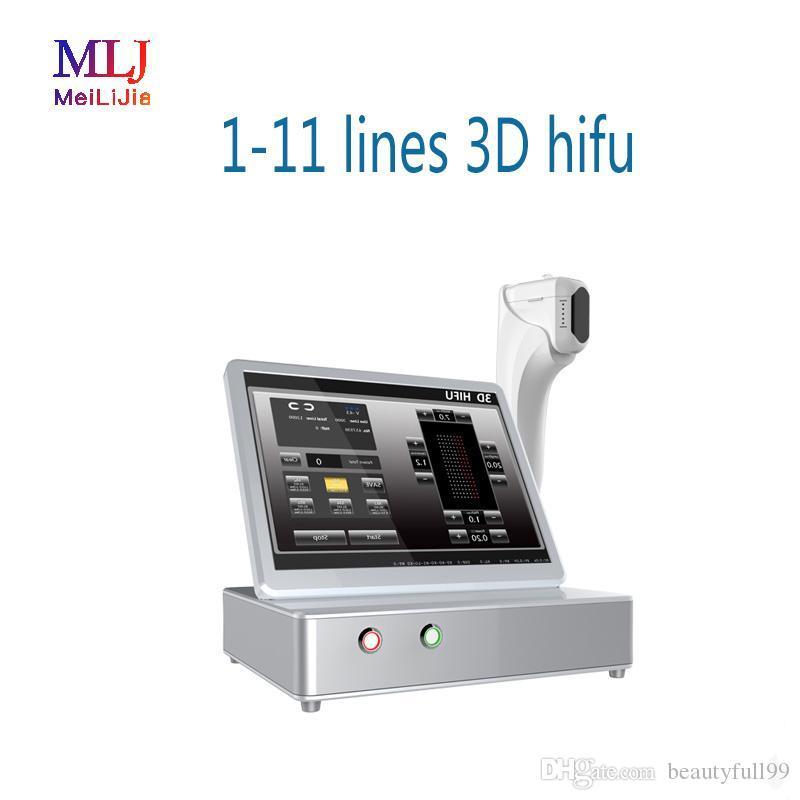 2019 libera il trasporto della macchina ad ultrasuoni macchina fabbrica 3d HIFU rimozione delle rughe con cartuccia 3,0 / 4,5 millimetri