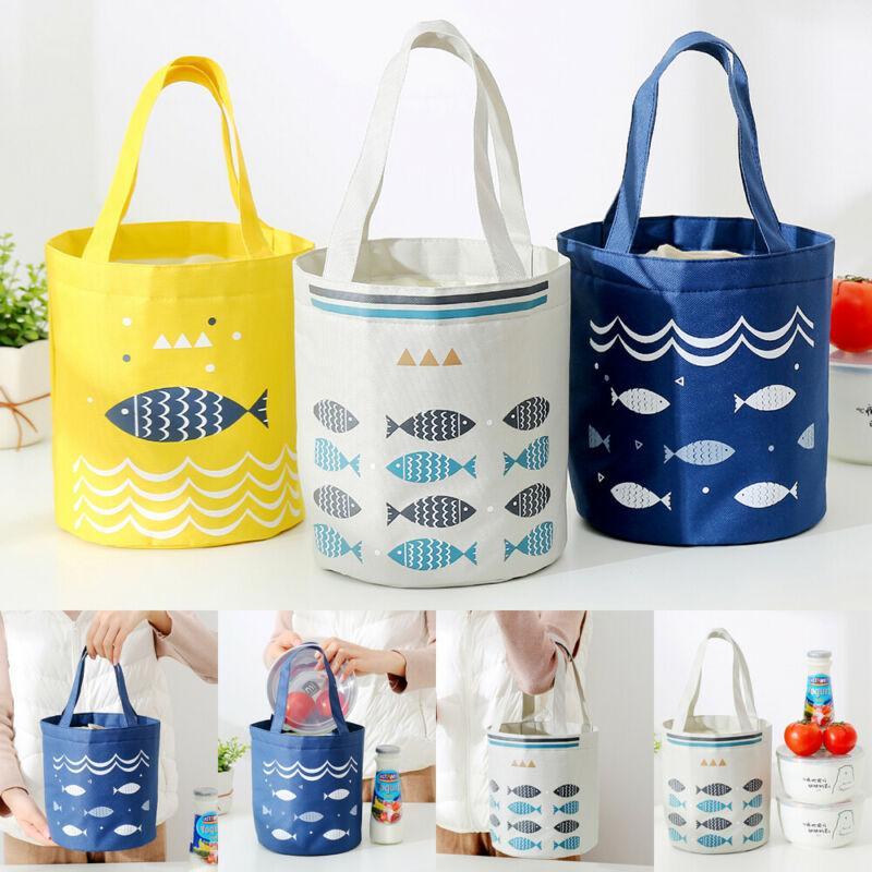 New Mulheres Moda portátil térmica Lunch Duplas Travel Bag Picnic Lunch Box Tote por Mulheres Homens portátil