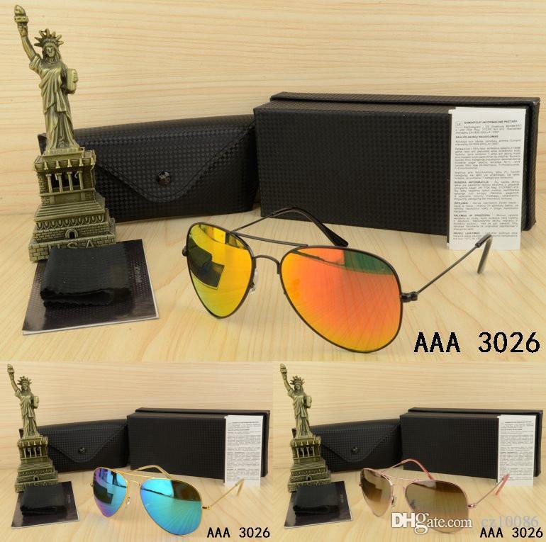 Mata Design Männer Frau Sonnenbrillen mit original Box Brillen Gold Metall quadratischen Rahmen klassische Vintage Brille Freunde als Geschenke Ocu