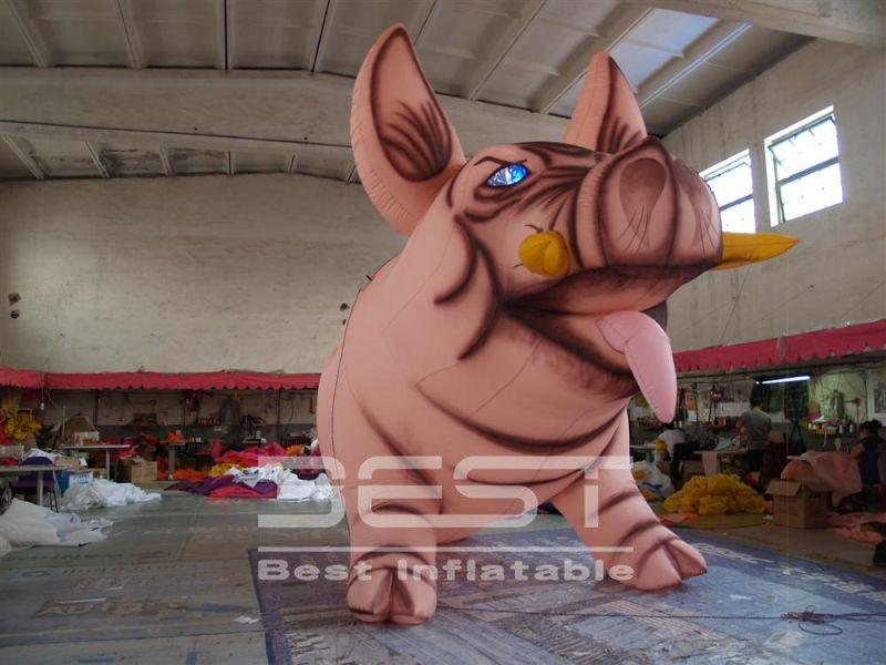 precio de fábrica gigante inflable Decoración personalizada de eventos cerdo inflable / jabalí con el logotipo de impresión libre para la publicidad parque o la decoración del club