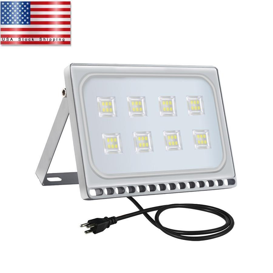 Lumière LED Flood 50W LED extérieur lampe d'atelier SMD USA stock Livraison gratuite à haute résistance Décorations de mariage blanc froid Nouveau