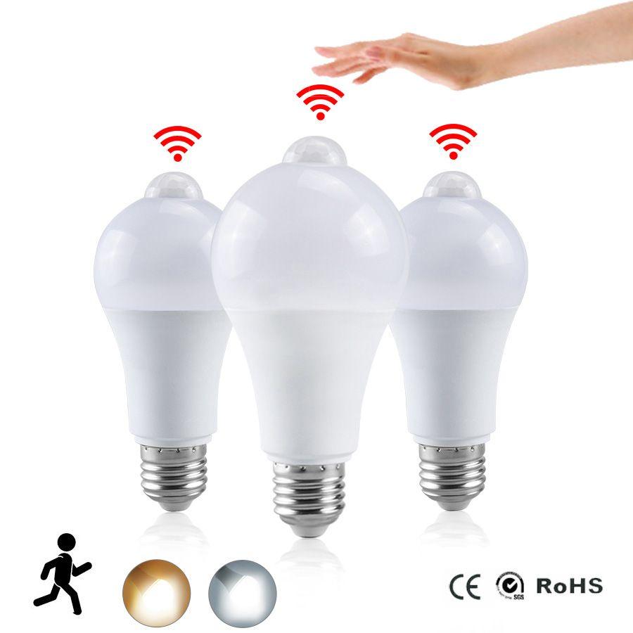나이트 라이트는 홈을 위해 새벽 빛에 전구 PIR 센서 모션 AC 85-265V B22 E27 LED 전구 램프 12W 15W 18W 20W 황혼을 LED