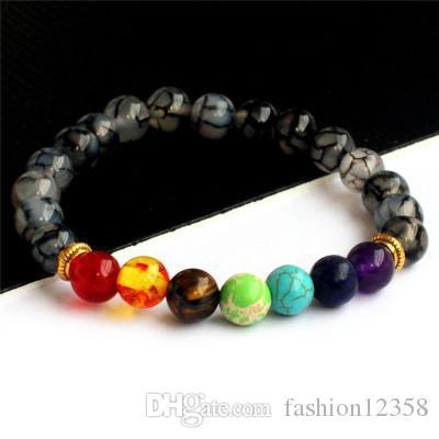 Классический стиль 8мм вулканический камень браслет женщин ювелирные изделия Мужчины Природный камень бисера браслет черный браслет дружбы Пара аксессуаров