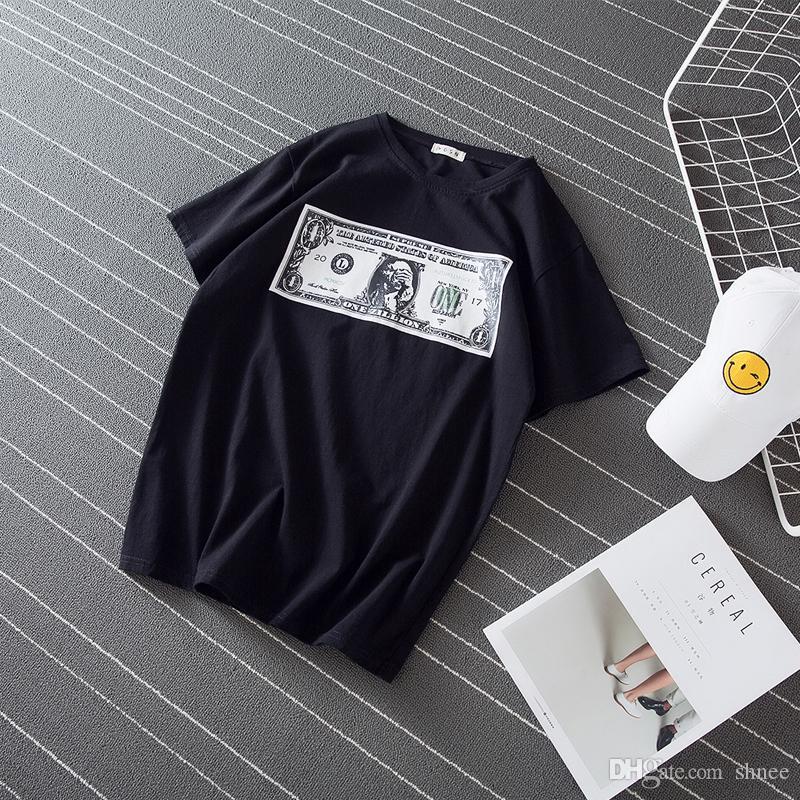 셔츠 남성용 머니 티셔츠 고딕 티셔츠 웃긴 티셔츠 힙합 티셔츠 멋진 남성 의류 신 여름 탑
