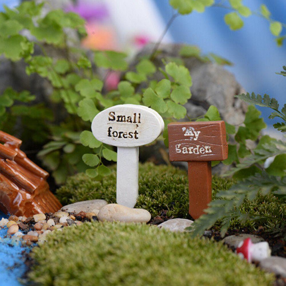 3 STÜCKE Schild Mini Garten Moos Terrarium Bonsai Figuren Micro Landschaft AB
