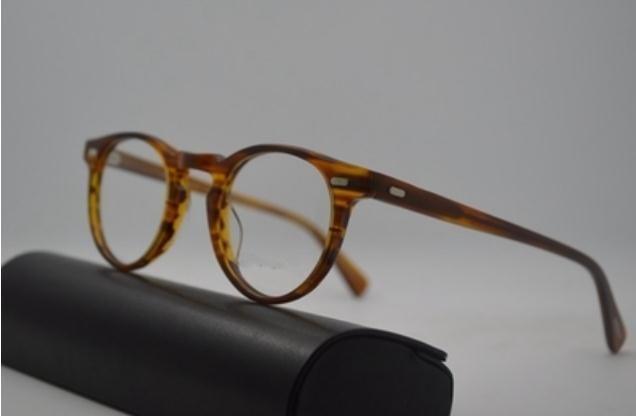 Men Women 45 mm 47 mm 2 size ov 5186 Sunglasses ov5186 Frame Retro Glasses regory Peck Brand Sun glasses Eyewear Frames with original box