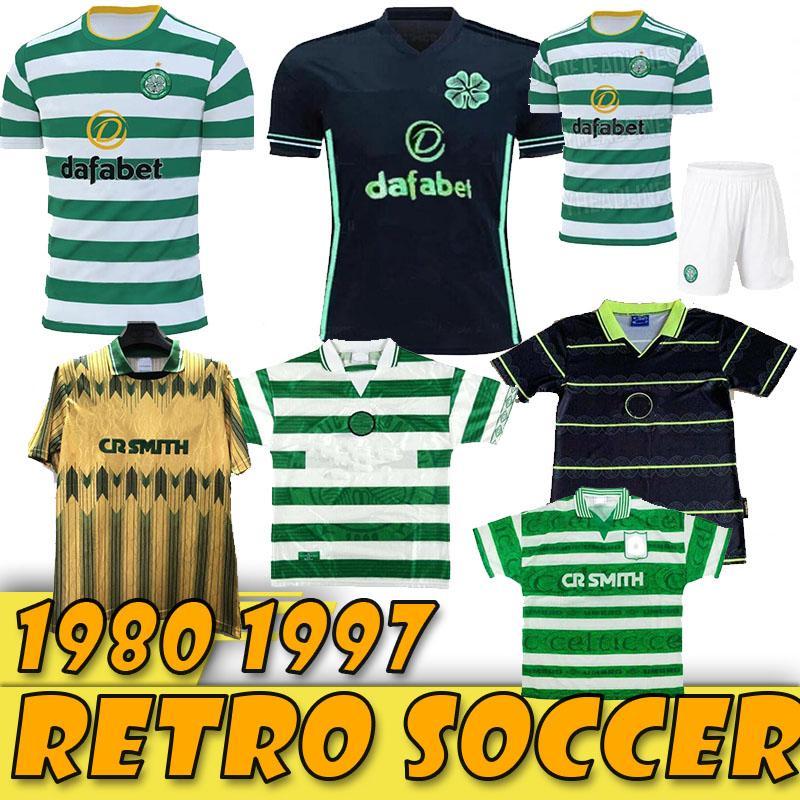20 21 maillots de football rétro 91 92 95 96 1997 1998 1999 2005 2006 LARSSON NAKAMURA JOHNSON vintage classique celtique de football chemises sport