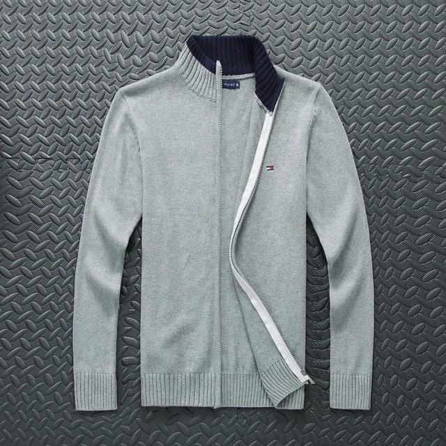 ocasional otoño suéter capa 2019 nueva moda de los hombres de gama alta y el invierno de manga larga con cremallera chaqueta de punto de cuello de punto 22
