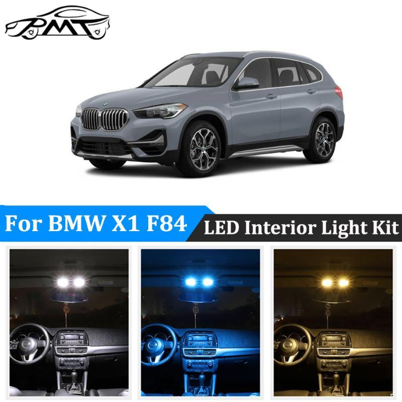 BMT 17pcs Branco Nenhum erro Canbus Lâmpadas LED Para X1 F84 LED Interior interior Light + License Plate Kit Lâmpada