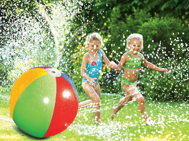 Inflable pelota de playa al aire libre de agua de riego de verano aerosol de agua inflable globo Aire libre jugar en la pelota de playa Agua