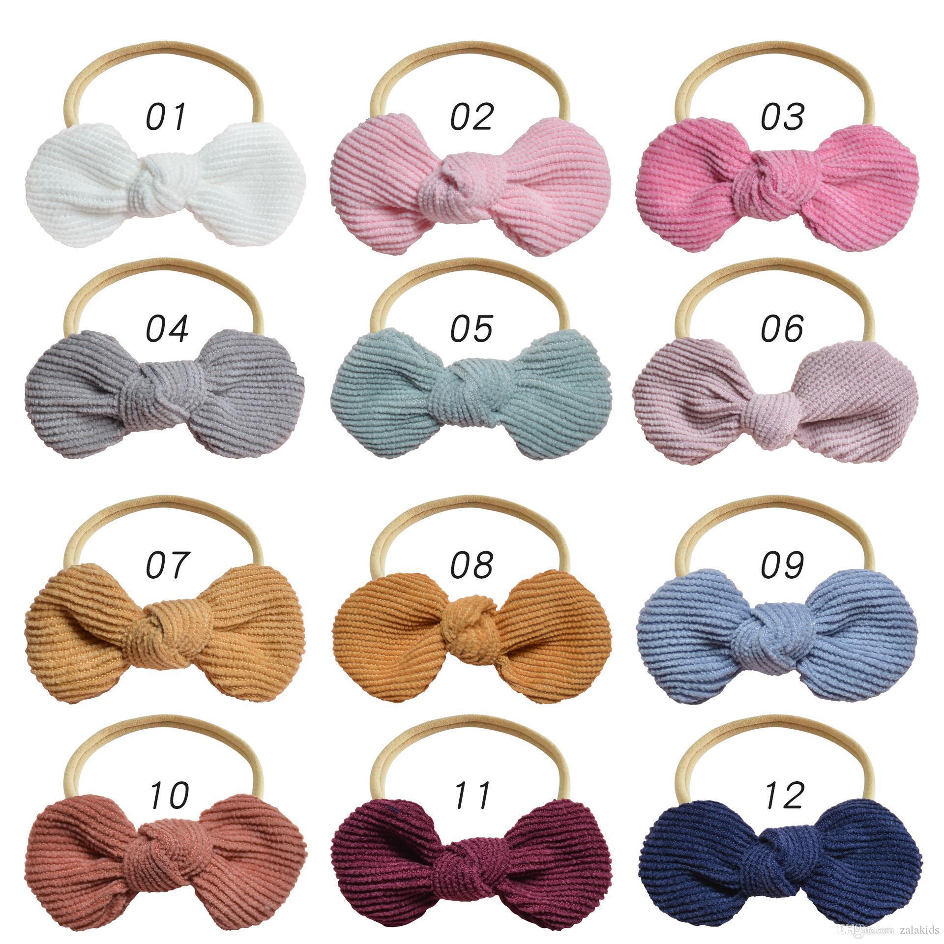 Ins kadife bebeğin saç bantlarında Naylon saç yenidoğan tasarımcı Düğüm saç bandı kız accesorios bebek çocuk bantları başını eğer