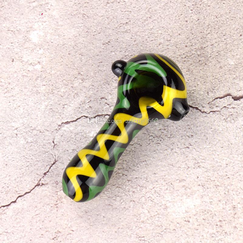 Humo de cristal verde de humo colorido tabaco espeso tubo de alta calidad en stock