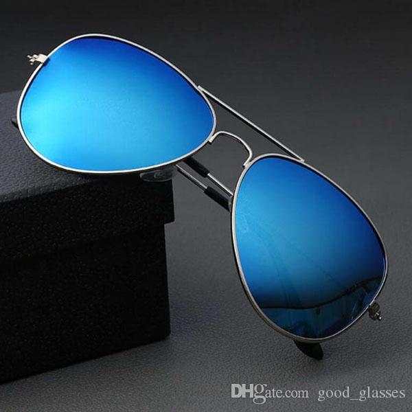 Moda piloto gafas de sol hombres mujeres marca diseñador 62 sombras clásico Vintage Metal marco conducción hombre gafas de sol gafas de sol con estuche