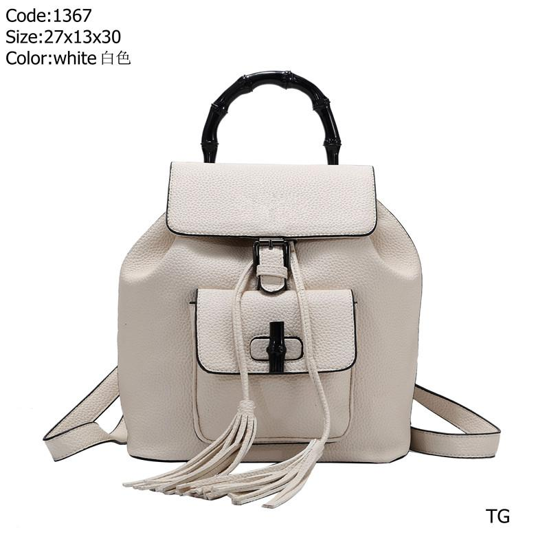 Design backpack 1367 TG Best price High Quality women Ladies Single handbag tote Shoulder backpack bag purse wallet