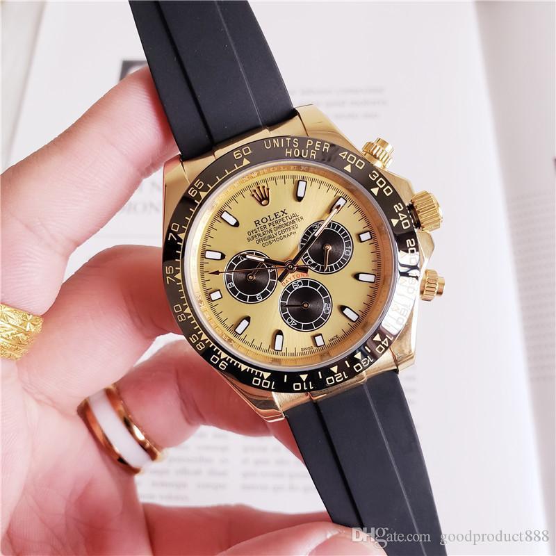Orologio meccanico orologio automatico 2020 uomini Top GMT Rubber Belt Ceramic 40 millimetri di vetro dello zaffiro della vigilanza degli uomini di
