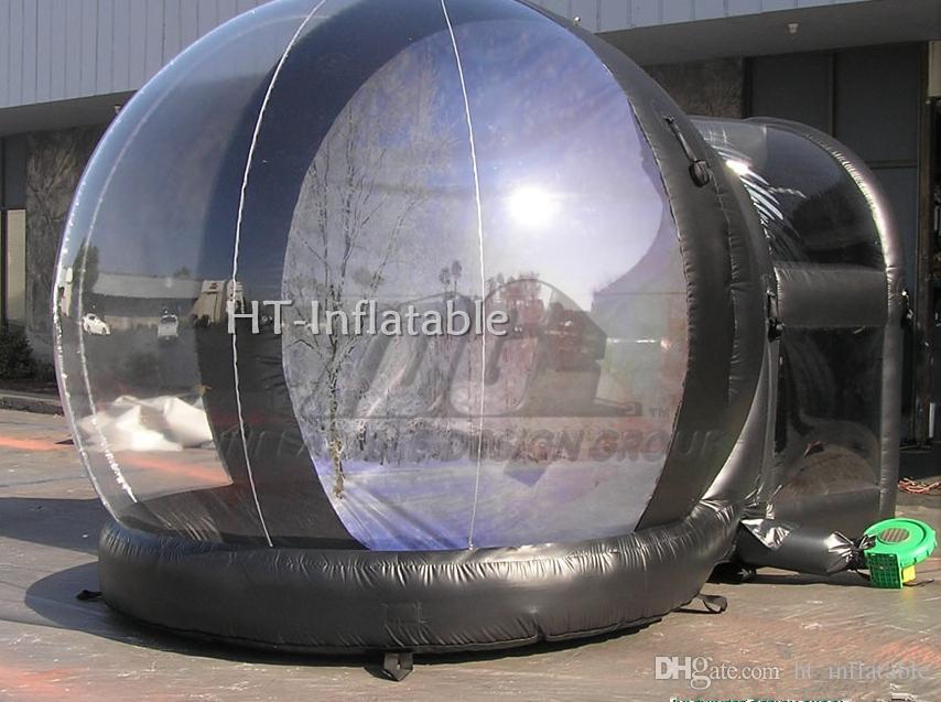 Freies Verschiffen 4M neues Jahr Cheap Custom Weihnachten Aufblasbares Leer Foto Human Größe Schnee-Kugel Photo Booth mit Tunnel
