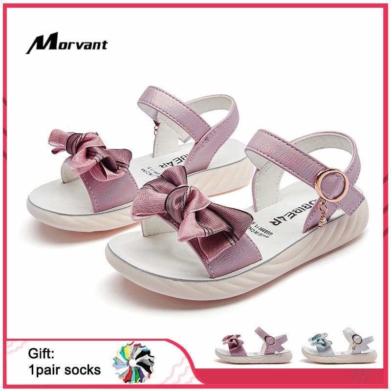 Crianças Sandals Princesa Verão bonito arco sapatos-nó Meninas Sandals Fashon Crianças do Partido Calçado Beach Girl Sandal