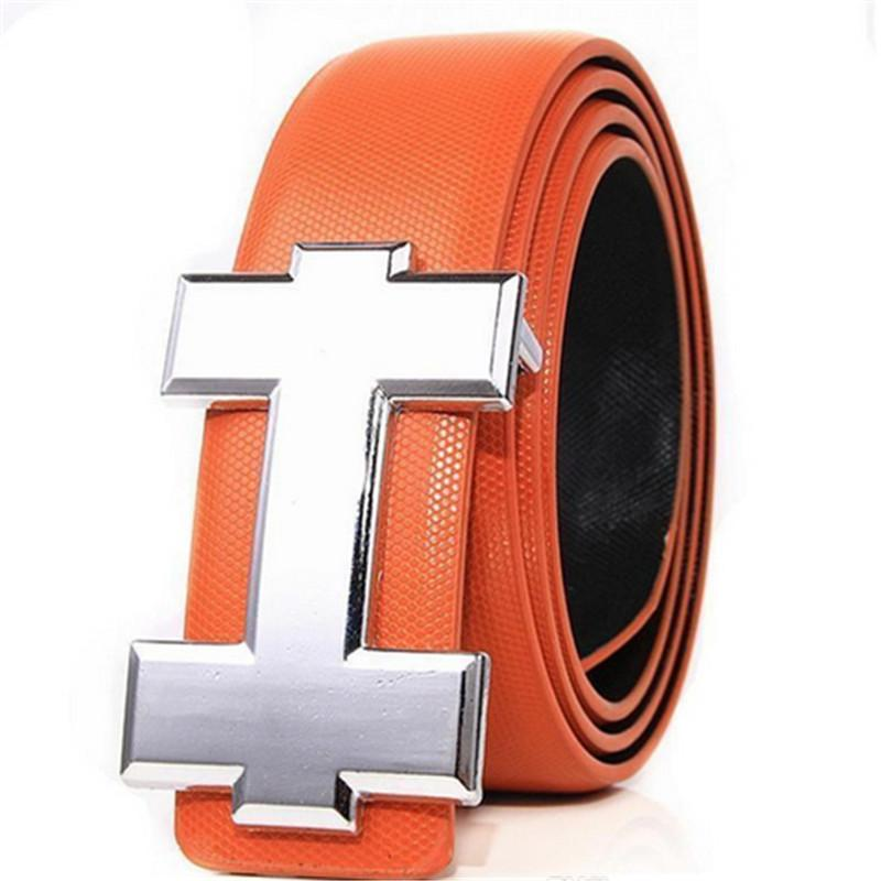 Colori più nuovi di marca di modo unisex Cinture di lusso H design Signori donna cinghie di cuoio genuino Smooth fibbia della cintura