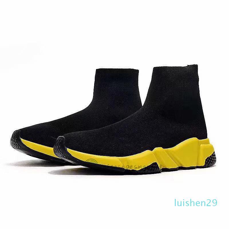 2020 Vintage zapatos calcetín diseñador para mujeres de los hombres zapatillas de deporte de moda de triple negro brillo blanco azul hombre de velocidad de color rosa corredor entrenador plataforma l29