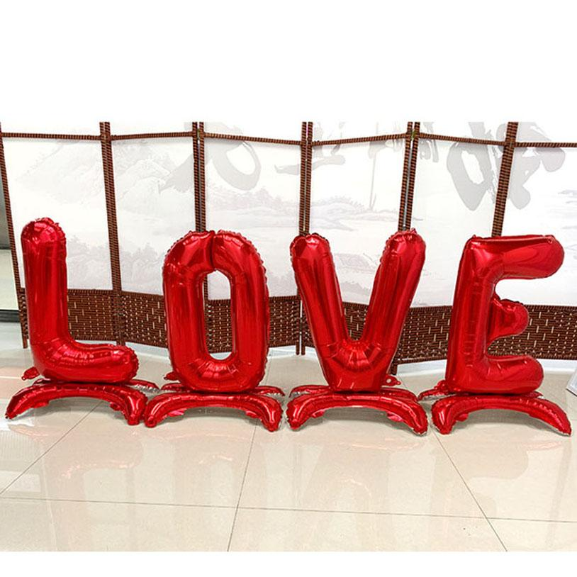 30 inch LOVE vertical Foil Balloon Wedding Decoration creative letter balloon gold / silver / red / Rose Gold