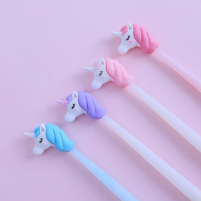 0.5 mm Kawaii Gel Pen Creativos Cartoon Cute Unicorn Model Office Student Supplies Stationery Pen Christmas Gift Random Color