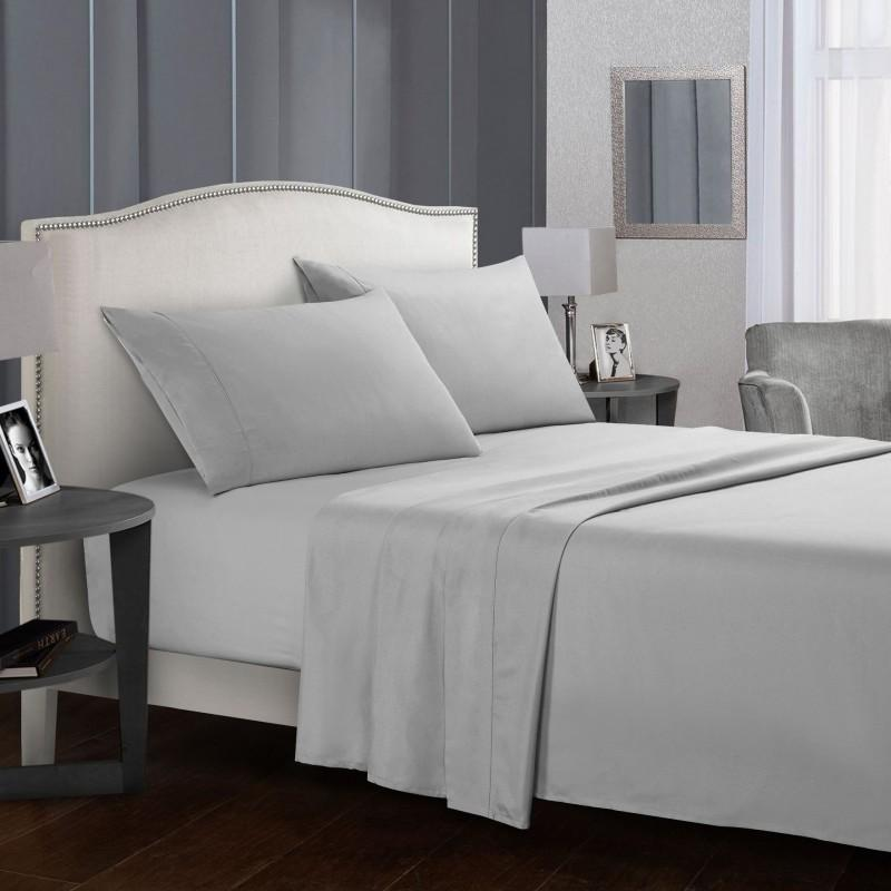 FULL//QUEEN size bed set Disposable bed linen solution set fitted flat and 2 pillowcases per pack comfortable soft material