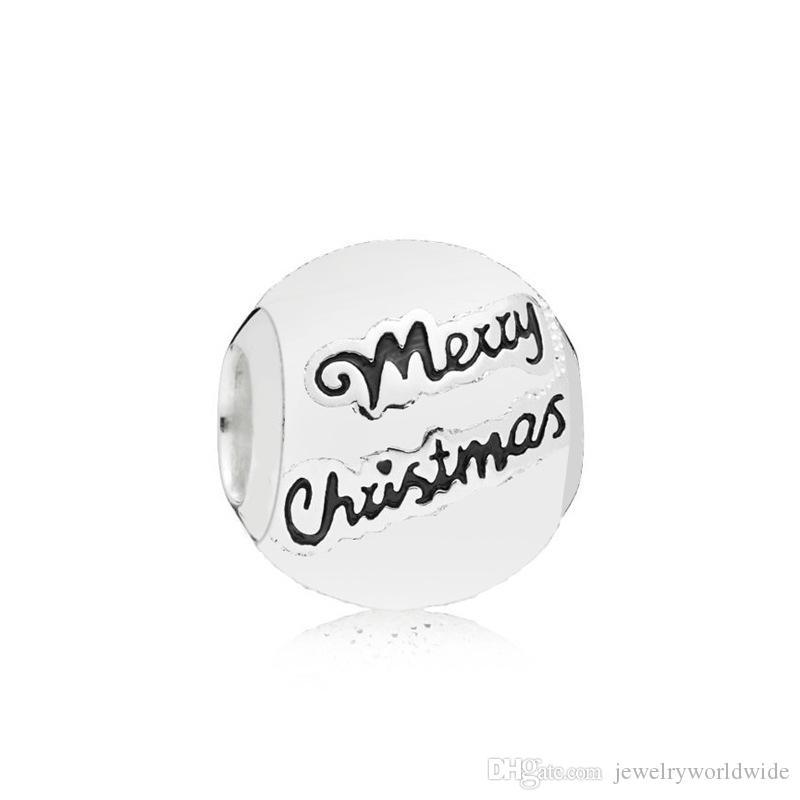 Joyeux Noël Charm Perle Femmes Mode Bijoux Superbe design européen Style pour bricolage Bracelet Nouvelle arrivée