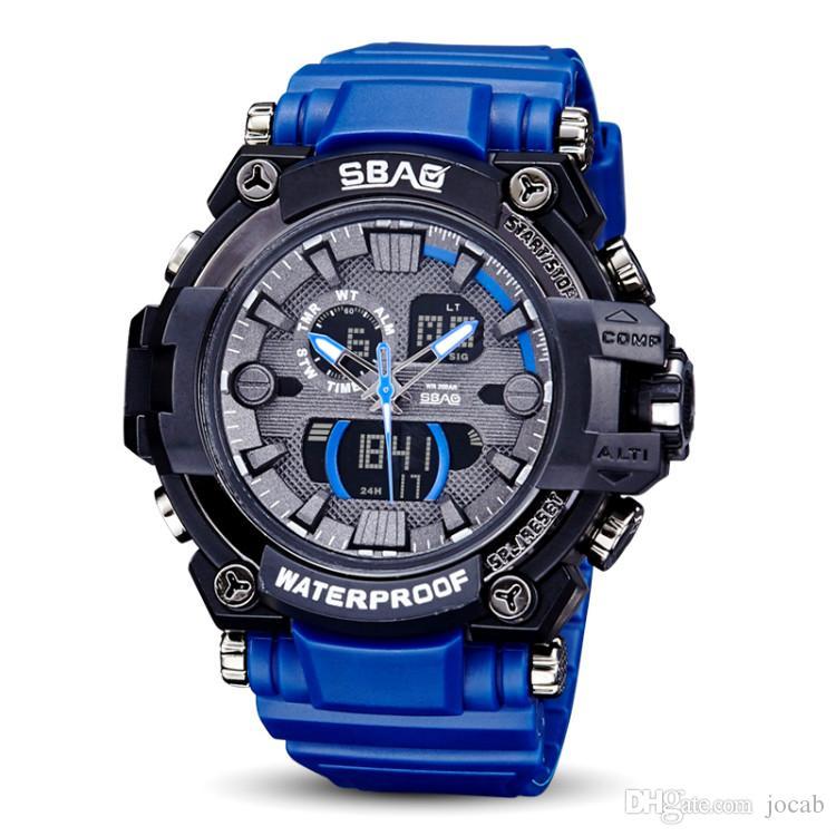 2018 럭셔리 남자 아날로그 디지털 군사 육군 LED 방수 손목 시계 relogios masculino 스포츠 S 충격 시계 패션 스포츠 디지털 시계