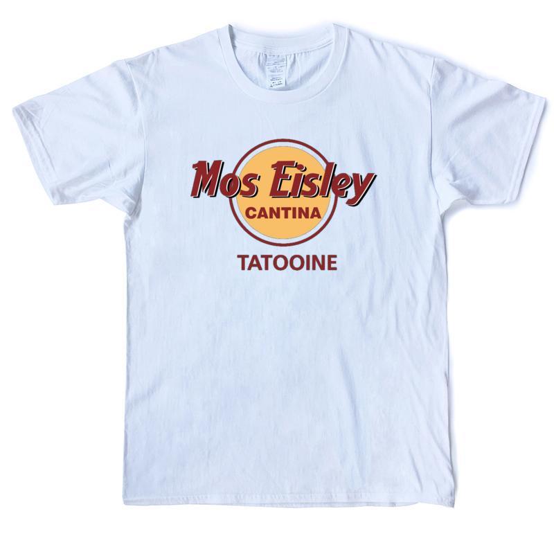Top Mos Eisley Cantina Tatooine uomini della maglietta divertente al 100% T shirt in cotone T-shirt manica corta O'Neck Via XS-3XL casuale stampati