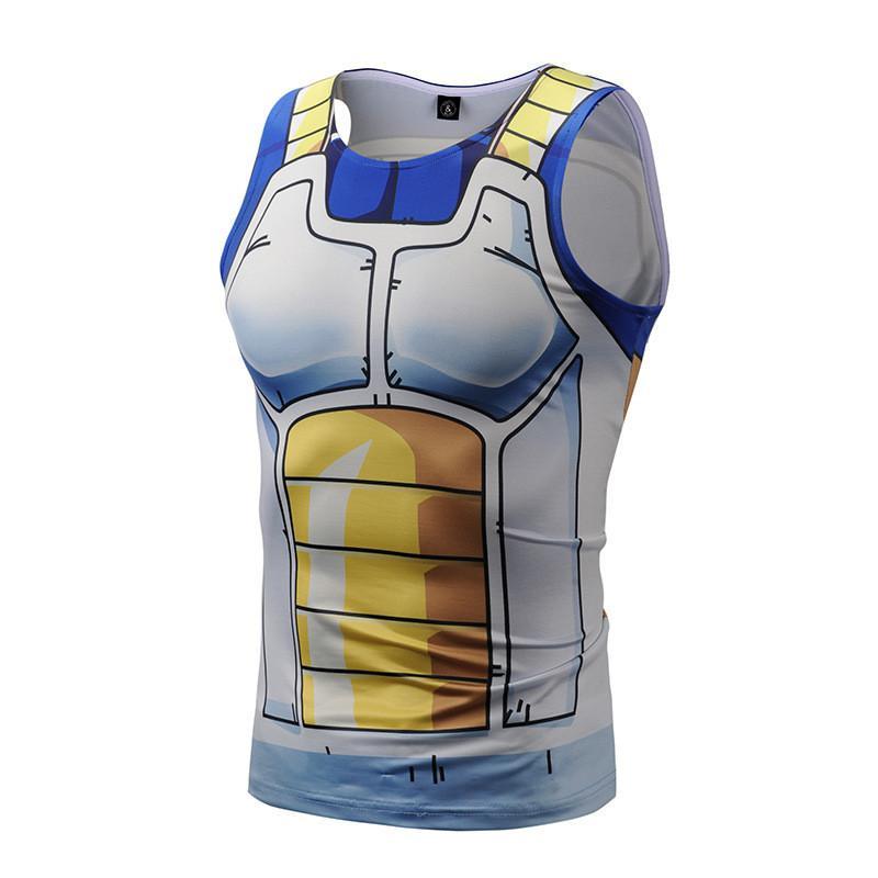 3D Dragon Ball Clothing Man Gym Sport Tank Tops Sleeveless Vegeta Tanktop Son Goku Cosplay Men Vest Tank Top Sportwear
