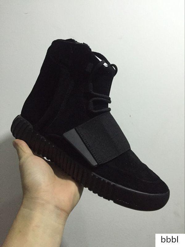 Les nouveaux hommes 750 Blackout extérieur, Kanye Sneaker chaussures Ouest Vente chaude 750, Chaussures de planche à roulettes, Sneakeheads Chaussures Chaussures