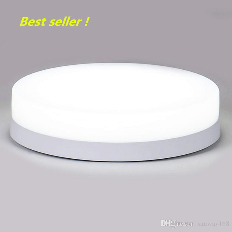 Modern LED ceiling light fixture - IP44 waterproof round embedded surface mount lighting porch corridor 3000k 6000k cold white(pack of 20)