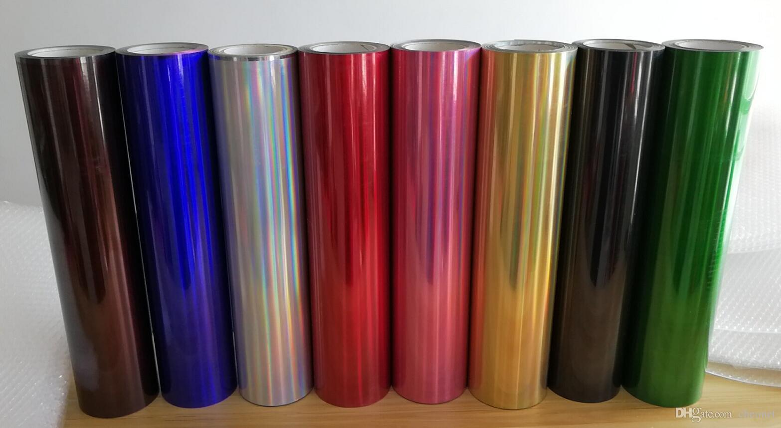 1 Sayfalık 25 cm x 50 cm Lazer Renkli Hologram Isı Transferi Isı Basın Makinesi Için Vinil HTV Baskı Satışta Tişört Demir!