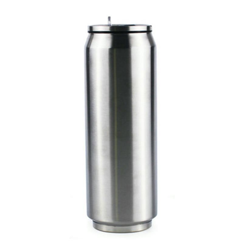 Hot Sale Cola Can Cooler Keeper Bouteilles d'eau en acier inoxydable à double paroi tasse de café avec couvercle et paille