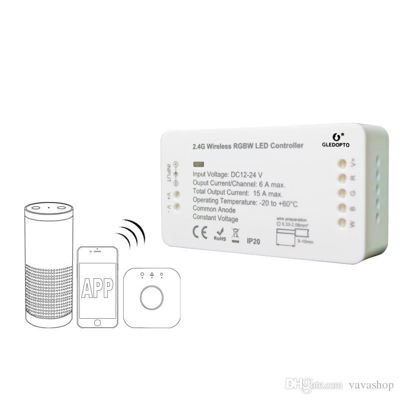 GLEDOPTO C - 007 ZIGBEE RGBW LED Şerit Kontrol DC 12 - 24 V Amazon Yankı artı / Osram Lightify ile Uyumlu