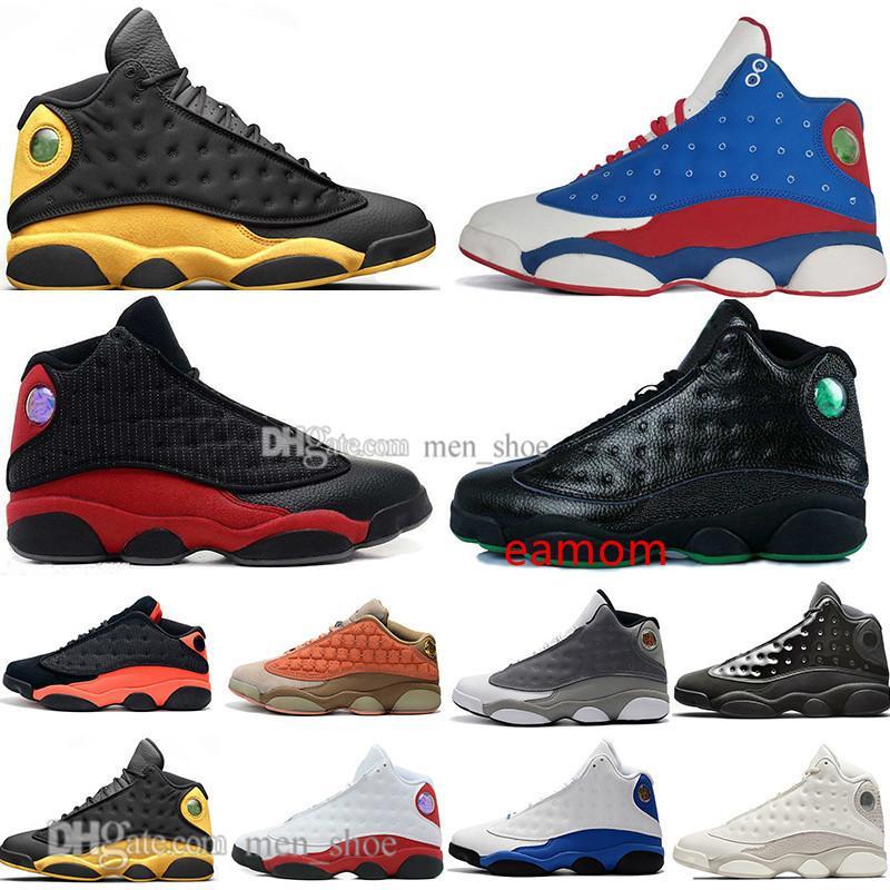 En Stock 13 zapatos de vestido Terracotta Colorete de baloncesto del Mens 13s gorra y Chicago Negro infrarrojos trigo Bred Formadores diseñador de los hombres zapatillas de deporte Deportes