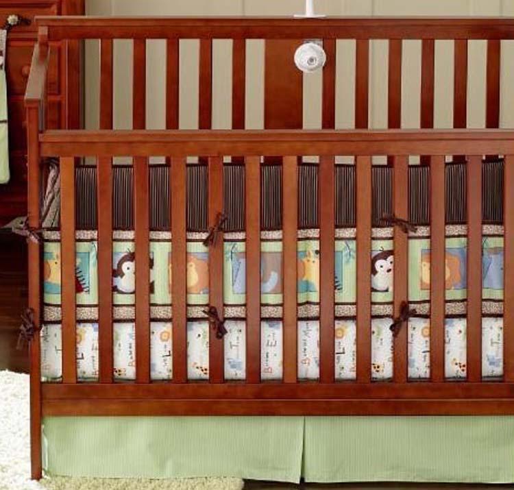 WM garçons coton brodé Literie de bébé un garçon lit autour du lit Jupe de lit Factory Direct Set bébé Literie