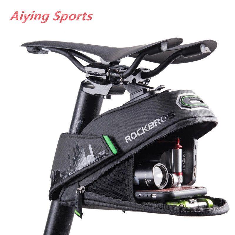 Aiying Sports Rainproof bicicleta Bag à prova de choque da bicicleta Saddle Bag Para Refletive traseira Grande Capatity Seatpost MTB bicicleta Bag Acessórios