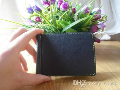 Magic Slim Hommes PINCES Vintage Poche avant Clamp argent clip Holder Magnet Magique Money Clip Portefeuilles Avec ID Card Case O28
