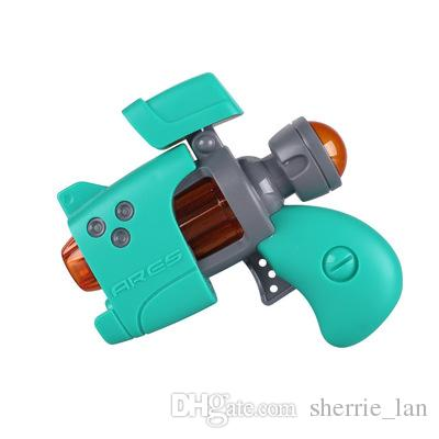 Baby safety cute Cartoon small Q gun children's electric small pistol mini eight-tone gun lighting music toy boy gifts action figure jouets